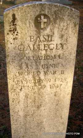 GALLEGLY  (VETERAN WWII), BASIL - Le Flore County, Oklahoma | BASIL GALLEGLY  (VETERAN WWII) - Oklahoma Gravestone Photos