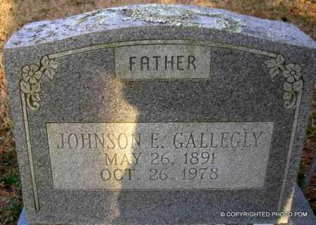 GALLEGLY, JOHNSON  E - Le Flore County, Oklahoma | JOHNSON  E GALLEGLY - Oklahoma Gravestone Photos