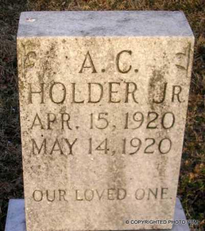HOLDER, JR, A C - Le Flore County, Oklahoma | A C HOLDER, JR - Oklahoma Gravestone Photos