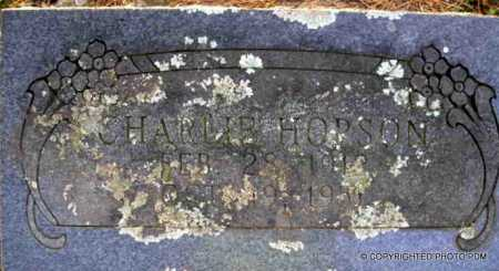 HOPSON, CHARLIE - Le Flore County, Oklahoma | CHARLIE HOPSON - Oklahoma Gravestone Photos