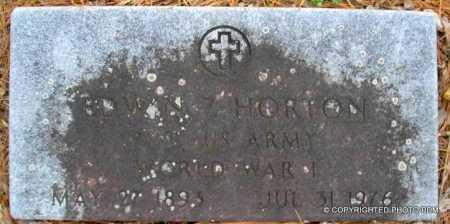 HORTON  (VETERAN WWI), EDWIN Z - Le Flore County, Oklahoma | EDWIN Z HORTON  (VETERAN WWI) - Oklahoma Gravestone Photos
