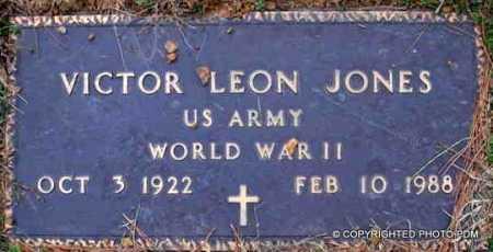 JONES  (VETERAN WWII), VICTOR LEON - Le Flore County, Oklahoma | VICTOR LEON JONES  (VETERAN WWII) - Oklahoma Gravestone Photos