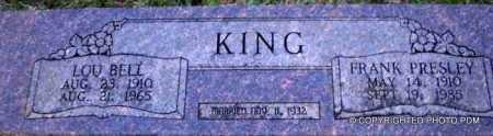 KING, FRANK PRESLEY - Le Flore County, Oklahoma | FRANK PRESLEY KING - Oklahoma Gravestone Photos