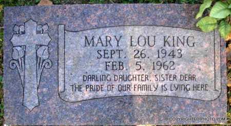 KING, MARY LOU - Le Flore County, Oklahoma | MARY LOU KING - Oklahoma Gravestone Photos