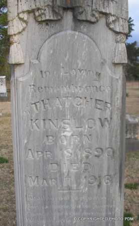 KINSLOW, THATCHER - Le Flore County, Oklahoma   THATCHER KINSLOW - Oklahoma Gravestone Photos