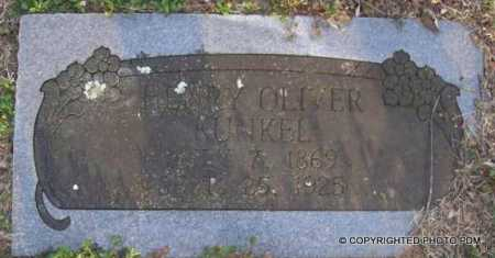 KUNKEL, HENRY OLIVER - Le Flore County, Oklahoma | HENRY OLIVER KUNKEL - Oklahoma Gravestone Photos