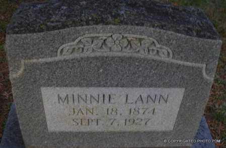 LANN, MINNIE - Le Flore County, Oklahoma   MINNIE LANN - Oklahoma Gravestone Photos