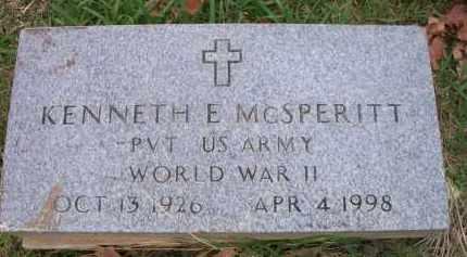 MCSPERITT   , KENNETH E  (VETERAN WWII) - Le Flore County, Oklahoma | KENNETH E  (VETERAN WWII) MCSPERITT    - Oklahoma Gravestone Photos