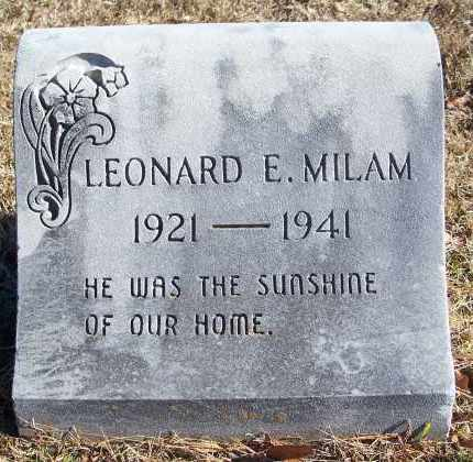 MILAM, LEONARD E - Le Flore County, Oklahoma | LEONARD E MILAM - Oklahoma Gravestone Photos