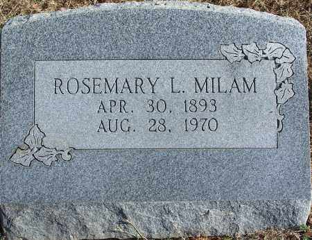 WILLIAMS MILAM, ROSEMARY - Le Flore County, Oklahoma   ROSEMARY WILLIAMS MILAM - Oklahoma Gravestone Photos