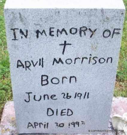 MORRISON, ARVIL - Le Flore County, Oklahoma | ARVIL MORRISON - Oklahoma Gravestone Photos