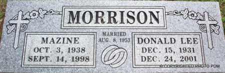 MORRISON, MAZINE - Le Flore County, Oklahoma | MAZINE MORRISON - Oklahoma Gravestone Photos