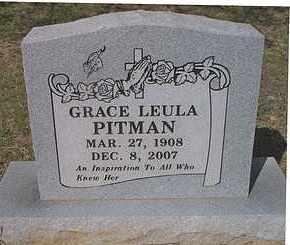PITMAN, GRACE LEULA - Le Flore County, Oklahoma | GRACE LEULA PITMAN - Oklahoma Gravestone Photos
