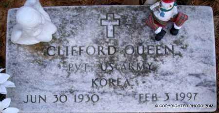 QUEEN  (VETERAN KOR), CLIFFORD - Le Flore County, Oklahoma | CLIFFORD QUEEN  (VETERAN KOR) - Oklahoma Gravestone Photos