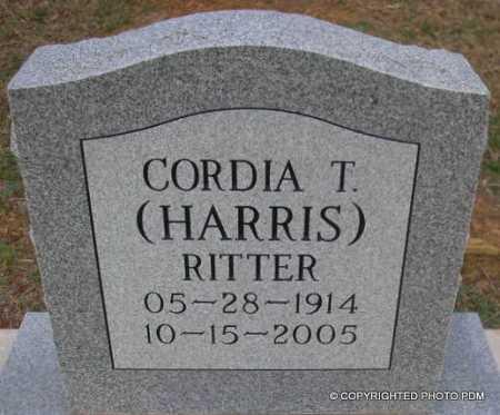 HARRIS RITTER, CORDIA T - Le Flore County, Oklahoma | CORDIA T HARRIS RITTER - Oklahoma Gravestone Photos