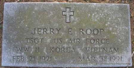 ROOP  (VETERAN 3WARS), JERRY E. - Le Flore County, Oklahoma | JERRY E. ROOP  (VETERAN 3WARS) - Oklahoma Gravestone Photos