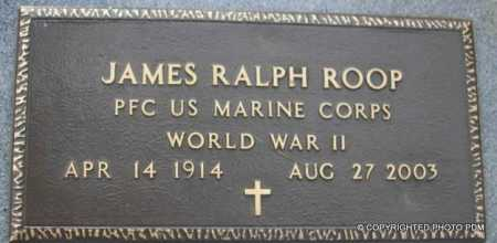 ROOP  (VETERAN WWII), JAMES RALPH - Le Flore County, Oklahoma | JAMES RALPH ROOP  (VETERAN WWII) - Oklahoma Gravestone Photos