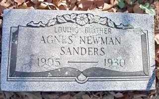 NEWMAN SANDERS, AGNES - Le Flore County, Oklahoma   AGNES NEWMAN SANDERS - Oklahoma Gravestone Photos