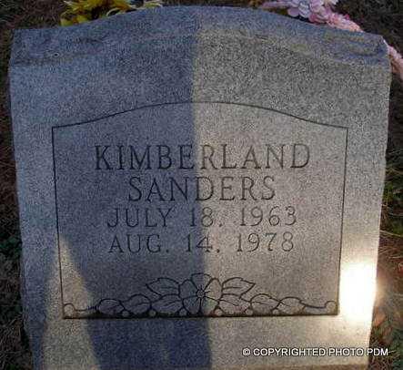 SANDERS, KIMBERLAND - Le Flore County, Oklahoma | KIMBERLAND SANDERS - Oklahoma Gravestone Photos