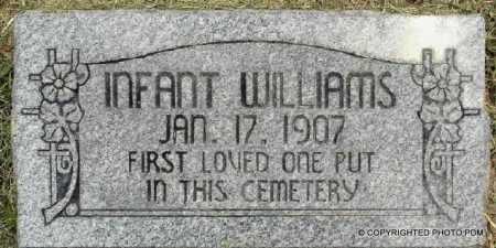 WILLIAMS, INFANT - Le Flore County, Oklahoma | INFANT WILLIAMS - Oklahoma Gravestone Photos