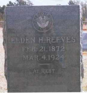 REEVES, ELDEN H. - Logan County, Oklahoma | ELDEN H. REEVES - Oklahoma Gravestone Photos