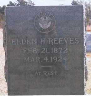 REEVES, ELDEN H. - Logan County, Oklahoma | ELDEN H. REEVES - Oklahoma Gravestone Photos