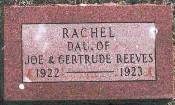REEVES, RACHEL - Logan County, Oklahoma | RACHEL REEVES - Oklahoma Gravestone Photos