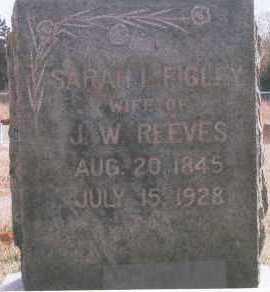 REEVES, SARAH - Logan County, Oklahoma | SARAH REEVES - Oklahoma Gravestone Photos