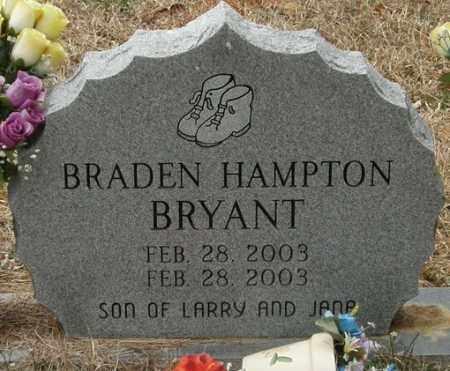 BRYANT, BRADEN HAMPTON - McCurtain County, Oklahoma   BRADEN HAMPTON BRYANT - Oklahoma Gravestone Photos