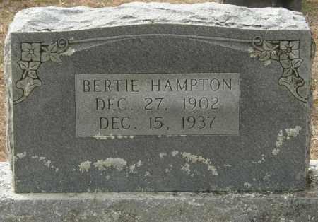 HAMPTON, BERTIE - McCurtain County, Oklahoma   BERTIE HAMPTON - Oklahoma Gravestone Photos