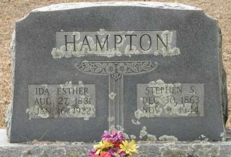 HAMPTON, IDA ESTHER - McCurtain County, Oklahoma   IDA ESTHER HAMPTON - Oklahoma Gravestone Photos