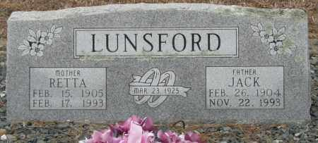 LUNSFORD, JACK - McCurtain County, Oklahoma | JACK LUNSFORD - Oklahoma Gravestone Photos