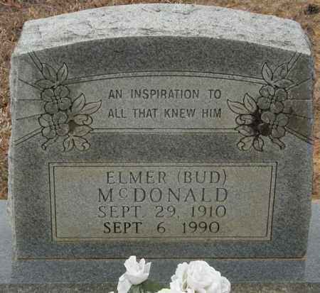 MCDONALD, ELMER (BUD) - McCurtain County, Oklahoma   ELMER (BUD) MCDONALD - Oklahoma Gravestone Photos