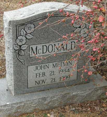 MCDONALD, JOHN MELVIN - McCurtain County, Oklahoma | JOHN MELVIN MCDONALD - Oklahoma Gravestone Photos