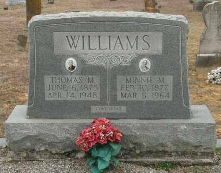 WILLIAMS, MINNIE M. - McCurtain County, Oklahoma | MINNIE M. WILLIAMS - Oklahoma Gravestone Photos