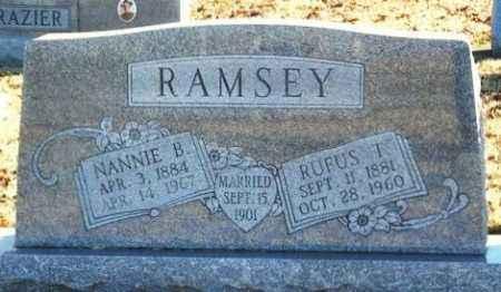RAMSEY, NANNIE B - Murray County, Oklahoma | NANNIE B RAMSEY - Oklahoma Gravestone Photos