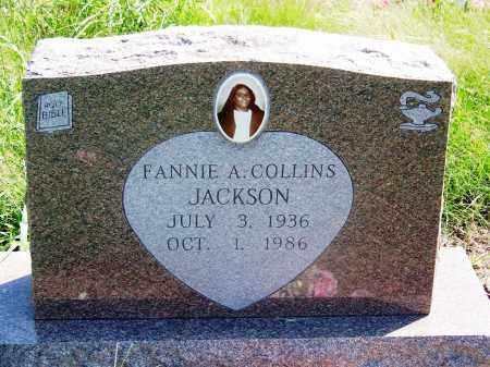 COLLINS JACKSON, FANNIE A - Muskogee County, Oklahoma | FANNIE A COLLINS JACKSON - Oklahoma Gravestone Photos