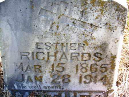 RICHARDS, ESTHER - Muskogee County, Oklahoma | ESTHER RICHARDS - Oklahoma Gravestone Photos