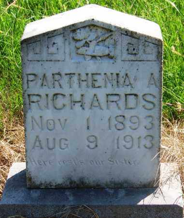 RICHARDS, PARTHENIA A - Muskogee County, Oklahoma | PARTHENIA A RICHARDS - Oklahoma Gravestone Photos