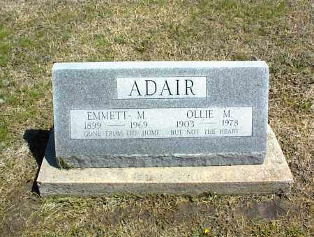 ADAIR, OLLIE M. - Nowata County, Oklahoma   OLLIE M. ADAIR - Oklahoma Gravestone Photos