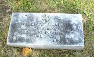 ADAIR (VETERAN WWI), WILLIAM L. - Nowata County, Oklahoma | WILLIAM L. ADAIR (VETERAN WWI) - Oklahoma Gravestone Photos