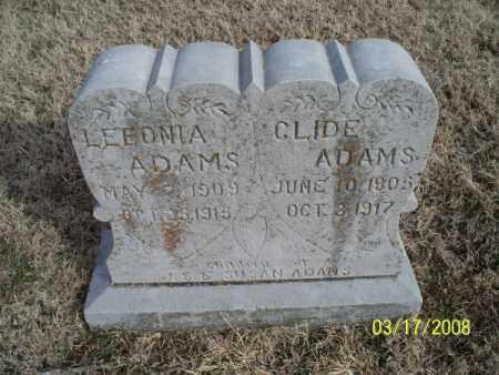 ADAMS, CLIDE - Nowata County, Oklahoma   CLIDE ADAMS - Oklahoma Gravestone Photos