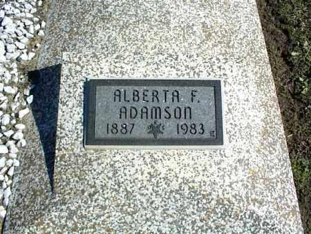ADAMSON, ALBERTA F. - Nowata County, Oklahoma | ALBERTA F. ADAMSON - Oklahoma Gravestone Photos