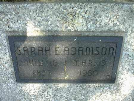 ADAMSON, SARAH E. - Nowata County, Oklahoma | SARAH E. ADAMSON - Oklahoma Gravestone Photos