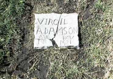 ADAMSON, VIRGIL (OLD STONE) - Nowata County, Oklahoma | VIRGIL (OLD STONE) ADAMSON - Oklahoma Gravestone Photos