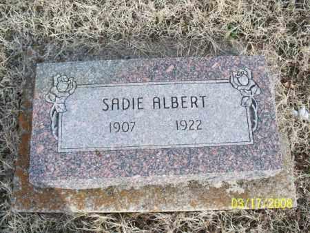ALBERT, SADIE - Nowata County, Oklahoma | SADIE ALBERT - Oklahoma Gravestone Photos