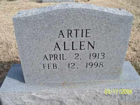 ALLEN, ARTIE - Nowata County, Oklahoma | ARTIE ALLEN - Oklahoma Gravestone Photos