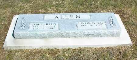 ALLEN, DORIS HELEN - Nowata County, Oklahoma   DORIS HELEN ALLEN - Oklahoma Gravestone Photos