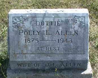 ALLEN, POLLY L. - Nowata County, Oklahoma | POLLY L. ALLEN - Oklahoma Gravestone Photos