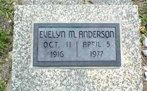 ANDERSON, EVELYN M. - Nowata County, Oklahoma | EVELYN M. ANDERSON - Oklahoma Gravestone Photos